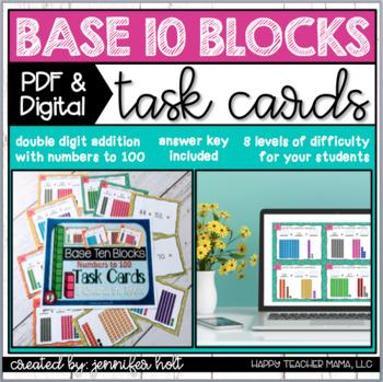 Base Ten Blocks Task Cards {Addition}