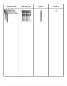 Base Ten Blocks - Work Mats and Printables