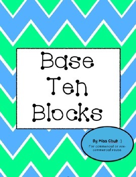 Base Ten Blocks for Commercial or Non-Commerical Reuse