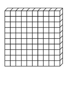 Base Ten Blocks for Commercial or Non-Commerical Reuse