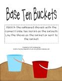 Summer Math Activities Base Ten Buckets