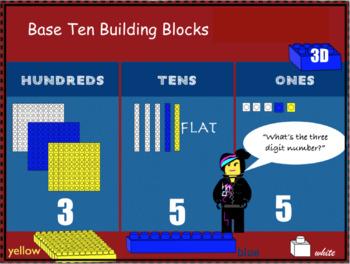 Base Ten Building Blocks Clipart: Building Blocks Theme
