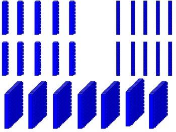 Base Ten Building Blocks Mat: Building Blocks Theme