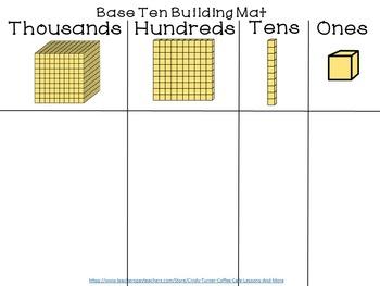 Base Ten Building Mat Freebie