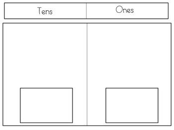 Base Ten Building and Writing CCSS Kindergarten