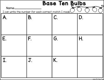 Base Ten Bulbs - Base Ten Identification