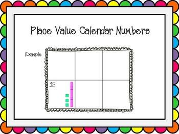 Base Ten Calendar Numbers