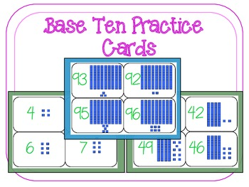 Base Ten Cards and Centers