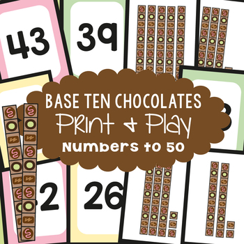 Place Value - Base Ten Chocolates - Math Center Game