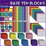 Base Ten Blocks Clip Art- 2D & 3D Bold {jen hart Clip Art}