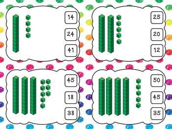 Base Ten Clip Cards- Math center