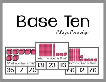 Base Ten Clip Cards (Numbers 1-120)