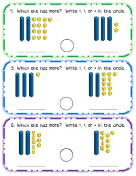 Base Ten Comparison Cards