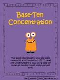 Base Ten Concentration * 2nd Grade Math Game * 2.NBT.3 * Place Value
