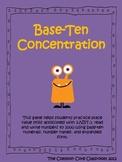 Base Ten Concentration * 2nd Grade Math Game * 2.NBT.3 * Place Value