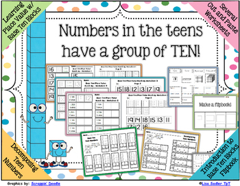 Base Ten Cut and Paste Worksheets with Flipbook