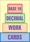 Base Ten Decimal Work Cards