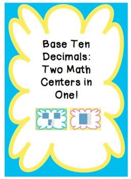 Base Ten Decimals Math Centers