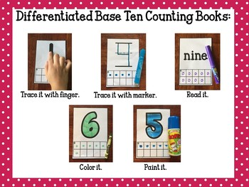 Base Ten Differentiated Books