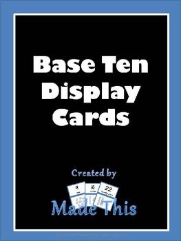 Base Ten Display Cards