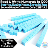 Base Ten, Expanded Form Read & Write Numbers to 1000: 2.NBT.A.3 Common Core Math