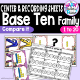 Base Ten Family Compare Numbers 1-20 ~Greater Than, Less Than~