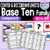 Base Ten Family Compare Numbers 50-100 ~Greater Than, Less Than~