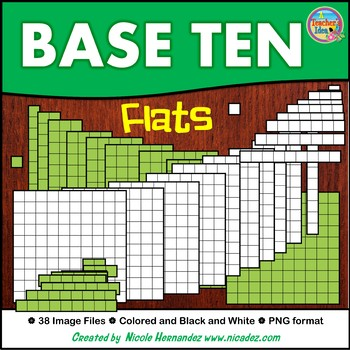 Base Ten Flats Clip Art for Commercial Use
