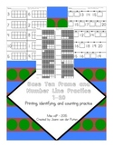Base Ten Frame and Number Line Practice 1-20