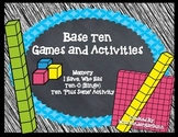 Base Ten Games and Activities