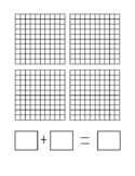 Base Ten Grid Mat - Adding Decimals