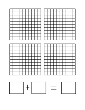 Base Ten Grid Mat - Adding Decimals
