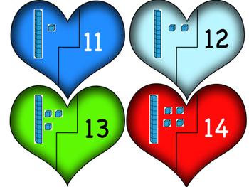 Base Ten Heart Puzzles