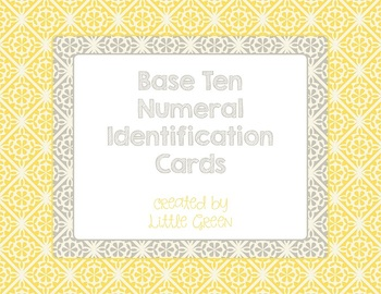 Base Ten (MAB) Numeral Identification Cards
