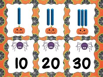 Base-Ten Match Mine Halloween Theme