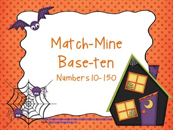 Base-Ten Match Mine Halloween Theme