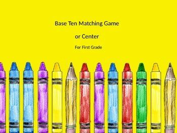 Base Ten Matching Game