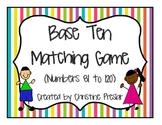 Base Ten Matching Game 81 to 120