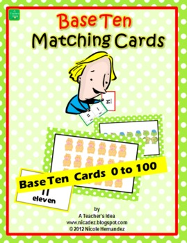 Place Value  Cards 1 to 100