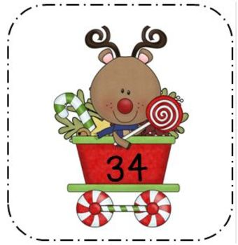 Base Ten Math Center for Christmas First and Second Grade