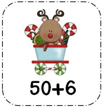 Tens and Ones Math Center for Christmas First and Second Grade