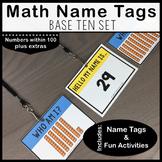 Base Ten Math Name Tags