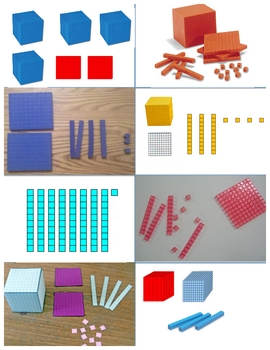 Base Ten Model Pics to Standard Form MATCH