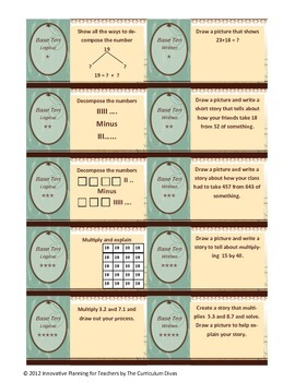 Base Ten Multiple Intelligence Game