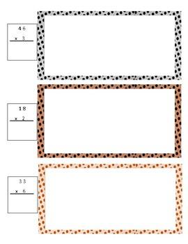 Base Ten Multiplication Double Digit by Single Digit