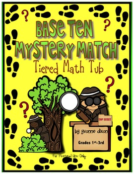 Base Ten Mystery Match Tiered Math Tub