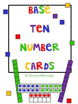 Base Ten Number Cards