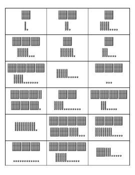 Base Ten Number Match