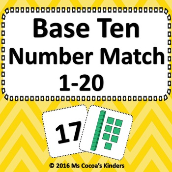 Base Ten Number Match Game