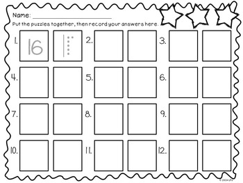 Base Ten Number Puzzles Math Centers